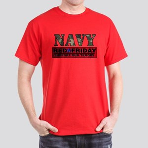 Red Friday Navy Logo Dark T-Shirt